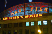 Navy Pier in Chicago in the night — Stock Photo
