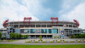 LP Field in Nashville, TN in the morning — Stock Photo