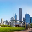 Jay Pritzker Pavilion in Millennium Park in Chicago — Stock Photo #29998201