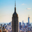 New Yorks stadsbild med empire state building — Stockfoto