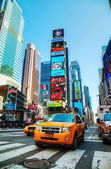 Yellow taxis at Times Square in New York City — Foto Stock