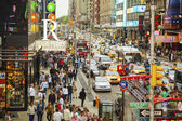Rush hour at Times square in New York City — Foto Stock