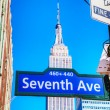 Stock Photo: Seventh avenue sign