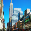 New York street with Empire State building — Stock Photo
