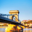 Szechenyi suspension bridge in Budapest, Hungary — Stock Photo