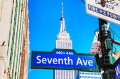 Seventh avenue sign — Stock Photo