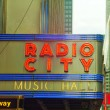 Radio City Music Hall sign — Stock Photo