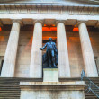 Federal Hall National Memorial at Wall Street in New York — Stock Photo