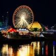 Navy Pier in Chicago at night time — Stock Photo