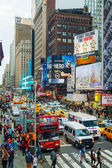 Rush hour at Times square in New York City — Stock Photo