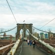 Brooklyn bridge in New York City — Stock Photo