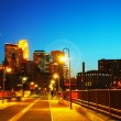 Stock Photo: Downtown Minneapolis, Minnesota at night time