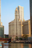 Chicago downtown with the Wrigley building — Stock Photo