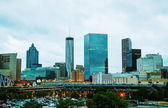 Downtown Atlanta in the evening — Stock Photo