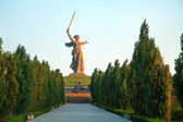 'The Motherland calls!' monument in Volgograd, Russia — Stock Photo