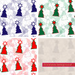 Christmas seamless background pattern — Grafika wektorowa