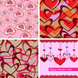 Valentine day seamless background pattern — Imagen vectorial