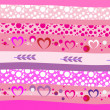 Valentine day seamless background — Vettoriali Stock