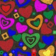 Valentine day seamless background pattern — Stock vektor