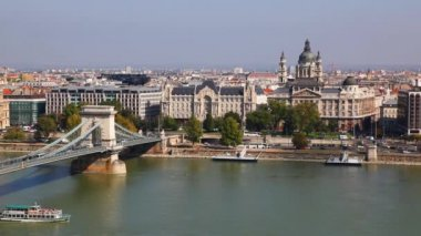 Overview of Budapest — Vídeo de stock