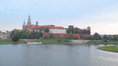 Wawel royal castle — Stok video
