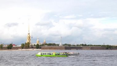 Petropavlovskaya fortress — Stock Video