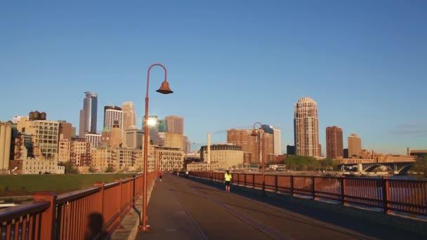 Centro de la ciudad Minneapolis — Vídeo de stock