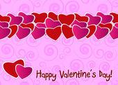 Sevgililer günü tebrik kartı — Stok Vektör
