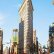 Flatiron (Fuller) building in NYC in the morning — Stock Photo