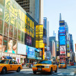Stock Photo: Yellow taxis at Times Square in New York City