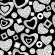 Valentine day seamless background pattern — 图库照片