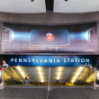 Stock Photo: Entrance to Penn station in New York City