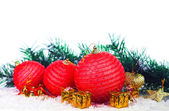Dekorative weihnachtskugel — Stockfoto