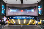 Entrance to Penn station in New York City — Stok fotoğraf