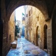 Narrow street in Old City of Jerusalem — Stock Photo