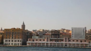 Istanbul cityscape with Galata tower — Stock Video