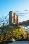 Ponte di brooklyn a new york city — Foto Stock