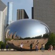 Cloud Gate sculpture in Millenium park — Stock Video