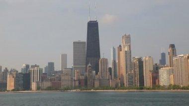 Downtown chicago med john hancock center — Stockvideo