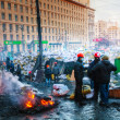 Barricades with protesters at Hrushevskogo street in Kiev — Stock Photo #39491579
