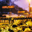 BBC reporters in front of riot police in Kiev — Stock Photo #39510071