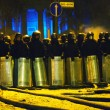 Riot police at Hrushevskogo street in Kiev, Ukraine — Stock Photo #39510095