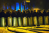 The riot police at Hrushevskogo street in Kiev, Ukraine — Stock Photo
