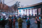Protesters at Hrushevskogo street in Kiev, Ukraine — Stock Photo
