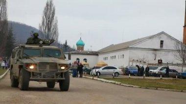 Russian armoured truck — Vídeo de Stock