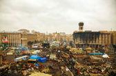 Majdan (niepodległości) plac po rewolucji — Zdjęcie stockowe