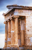 Temple of Athena Nike close up at Acropolis — Foto Stock