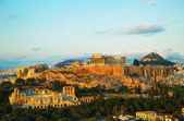 Acropolis in Athens, Greece in the evening — Stockfoto