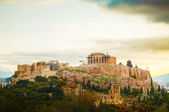 Acropolis in the morning after sunrise — Stock Photo
