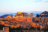 Acropolis  in the evening — Stockfoto